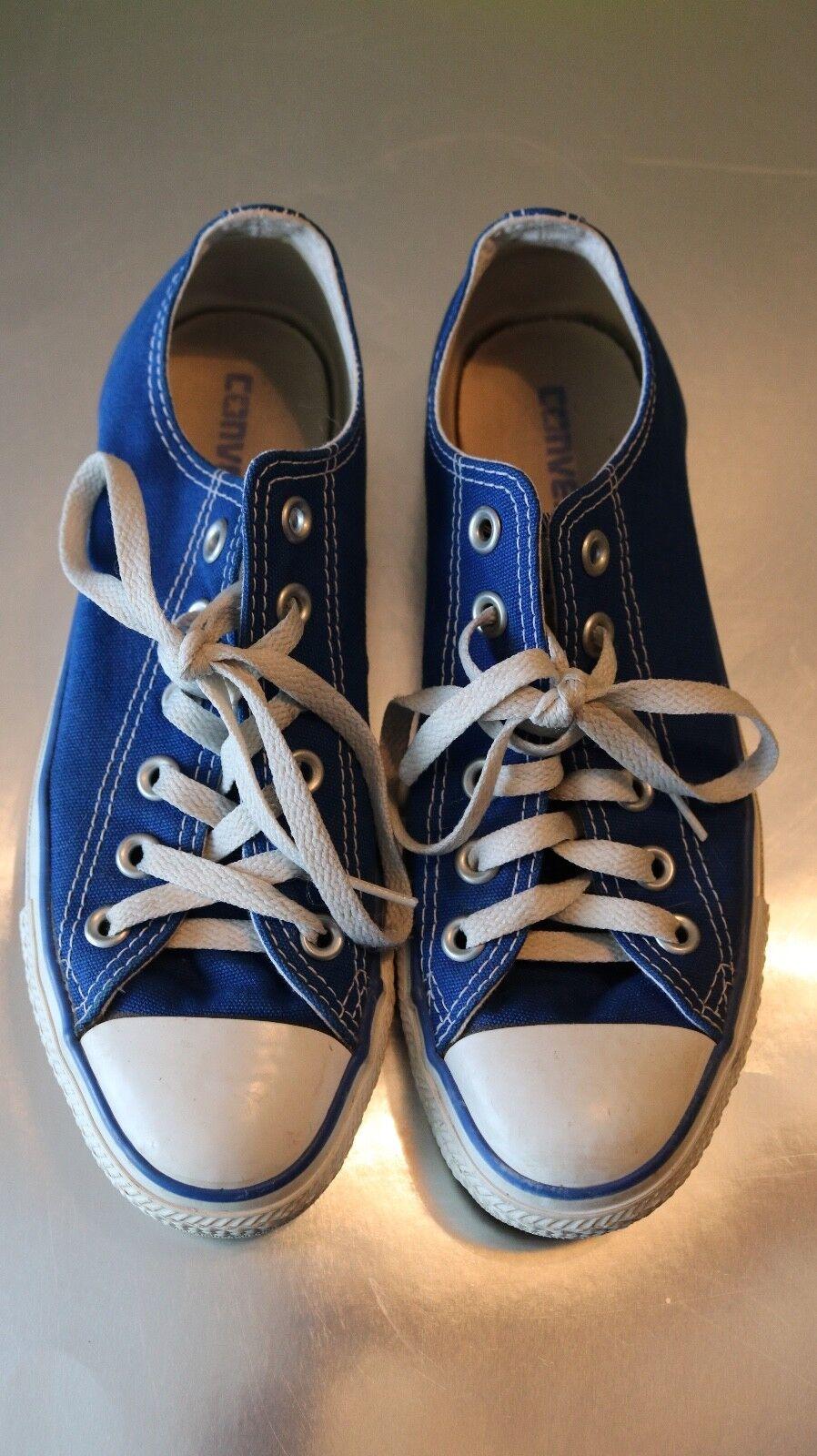 Vintage 90s Blau Converse with Matching Blau Trim Größe 5 (Very Light Wear)