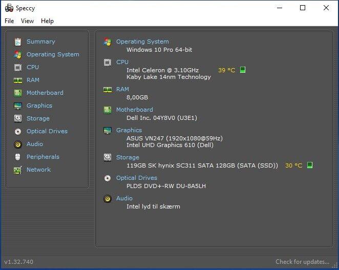 Dell, Optiplex 3060 SFF, 3,1 Ghz