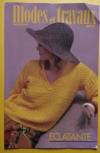 § MODES ET TRAVAUX cahier tricot 06//1983
