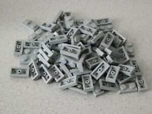 Lego 3023# 90 x Basic Platten Plättchen 1x2 flach neu dunkelgrau grau 75159