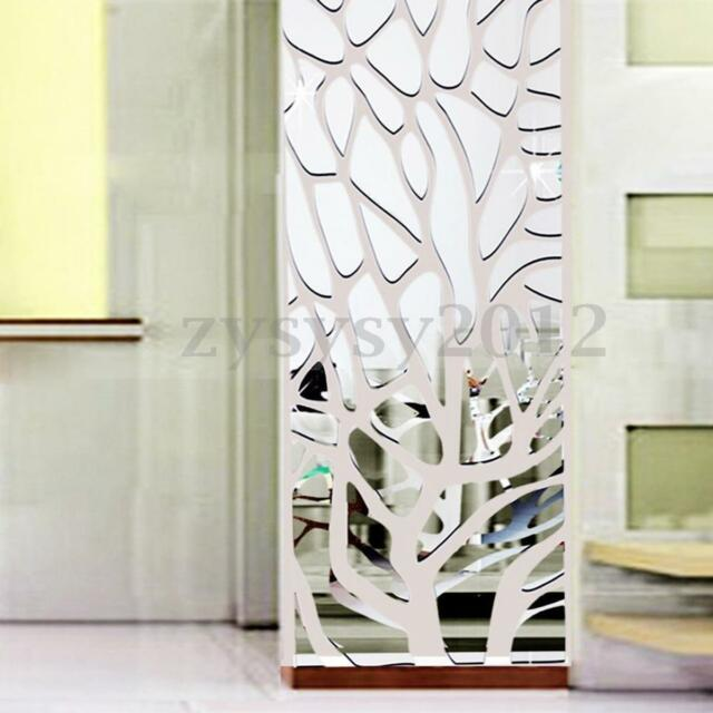 3d Modern Wall Stickers Acrylic Mirror Decal Art Mural Removable Home Room Decor  eBay