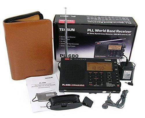 TECSUN PL680 PLL FM//Stereo MW LW SW SSB AIR Band BLACK COLOR New G