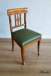 Biedermeier Stuhl  aus massiven Kirschholz