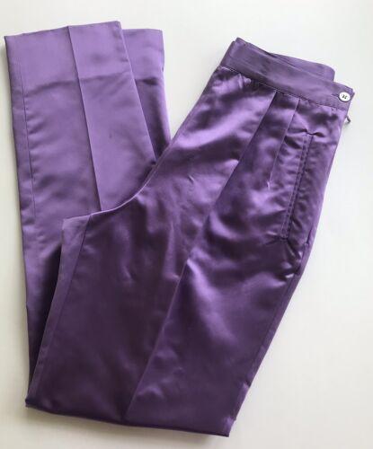 Vintage 1990s Prada Aughts Lilac Silk High Waist … - image 1