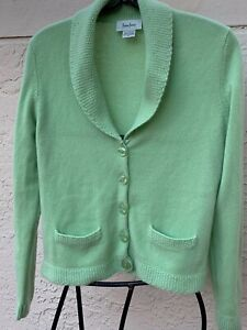 Sweater Cashmere Neiman M Cardigan Green Colour 100 Kelly Marcus Sz 44xqRO0