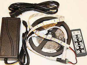 5M-12V-HighPower-blanc-froid-5630-LED-bande-transformateur-variateur