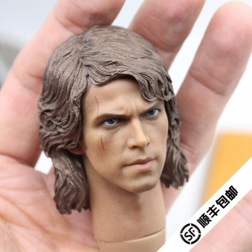 "1//6th Anakin Skywalker//Darth Vader Head Sculpt Star Wars For 12/"" Male Action"