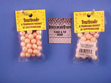 UV2 Peach Pearl Fusion Egg 6-10mm Trout Bead $2.50 US Combined Shipping