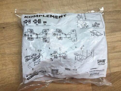 IKEA KOMPLEMENT 4 x Scharniere 130° Türscharniere Scharnier sanft schließend NEU