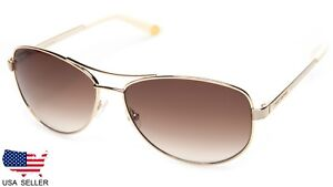 9c743ff455 NEW Juicy Couture JU 554 S 03YG Y6 LIGHT GOLD   BROWN SUNGLASSES 60 ...
