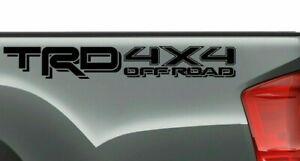 TRD OFF ROAD 4x4 BLACK Decals Vinyl Stickers 1 PAIR truck paneel bed