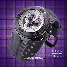 Invicta Reserve Excursion Master Calendar Purple/Silver Swiss Made Chrono Watch