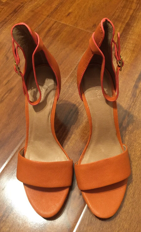 295 NEW Joie Jaclyn Orange Heels, Heels, Heels, Größe 37. All Leather d11f85