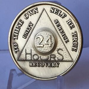 24-Hours-AA-Medallion-Bronze-Alcoholics-Anonymous-Sobriety-Chip-Coin