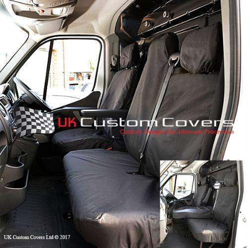 RENAULT MASTER 2010 ON TAILORED FRONT SEAT COVERS BLACK 236