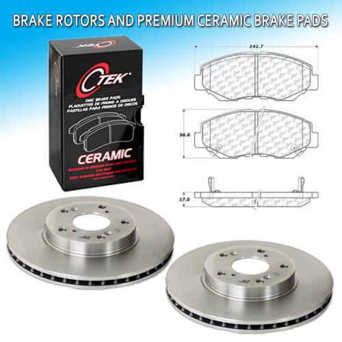CK Front L+R Brake Rotors /& Premium Ceramic Pad Set Fits 03-07 Honda Accord 2.4L