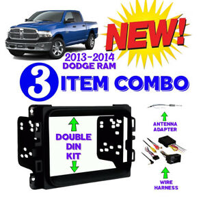 Details about 2013 + 2017 RAM 1500/2500/3500 RADIO INSTALL DASH KIT on