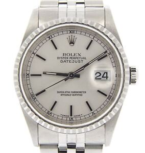 Mens-Rolex-Stainless-Steel-Oyster-perpetual-Datejust-Watch-Jubilee-Silver-16220
