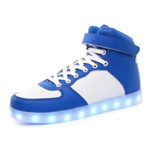 finest selection 81978 372d3 Details zu Leuchtend Herren Damen Erwachsene Blinkschuhe Farbwechsel  Sportschuhe LED Blau