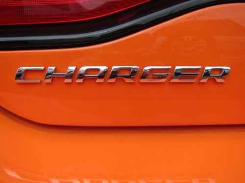 2006-2014 Dodge Charger Rear Decklid Trunk Chrome Nameplate Emblem Mopar OEM