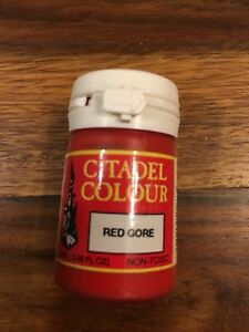 Citadel Colour Red Gore 20ml Old Cylindrical Paint Pot New Sealed GW OOP