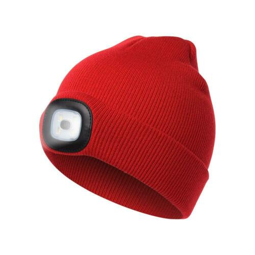 Winter Kid Knitted Beanie Hat with LED Light Camping Outdoor Fishing Cycling Cap