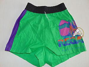 Vintage-90-BRUGI-Boxer-L-Shorts-Costume-Beach-Pantaloncini-Verde-Costa-Smeralda