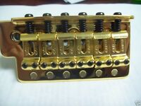 - Fender Bridge Assembly For Mexican Strat - Gold, 005-9561-000