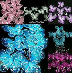 30 pcs 2 organza tulle butterflies quinceanera favors for Wholesale quinceanera craft supplies