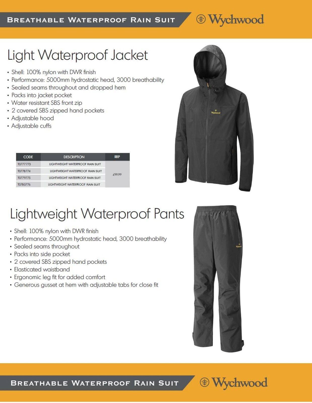 Wychwood Regenanzug Two Piece Rain Suit LIGHT WATERPROOF STORM Atmungsaktiv
