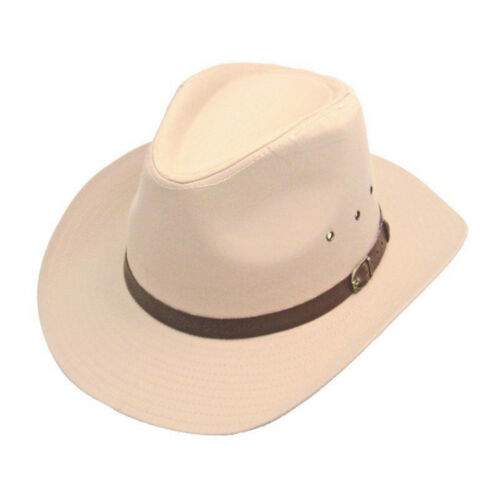 Men/'s Ladies Western  Cowboy Hat With Belt with Buckle Band Cream 24-48 hours