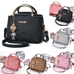 Ladies Women Leather Handbag Shoulder Bag Purse Tote Messenger Satchel Crossbody