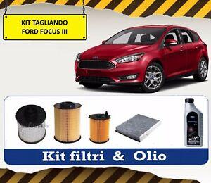 KIT-TAGLIANDO-OLIO-FORD-5W30-4-FILTRI-FORD-FOCUS-III-1-5-TDCI-70-KW-95-CV