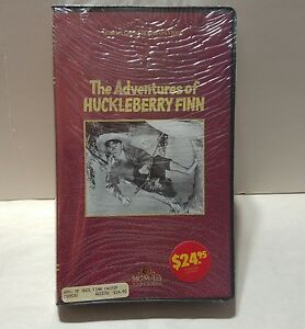 MGM-UA-Great-Books-On-Video-Adventures-of-Huckleberry-Finn-Clamshell-VHS-Sealed