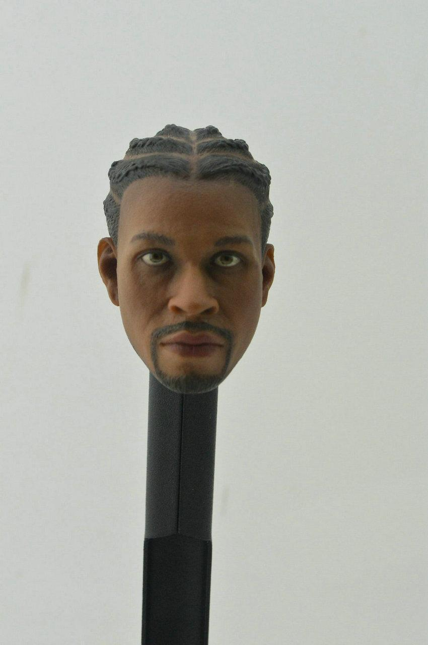 "BELET 1//6 scale Head Sculpt NBA Allen Iverson The Answer fit 12/"" figure body toy"
