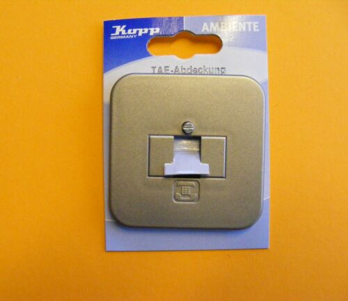 Kopp Ambiente platin TAE Abdeckung für Telefondosen für 1-3 Anschlüsse