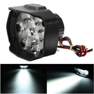 9-85V-1500lm-15W-Motorcycle-Spotlight-IP65-Black-Headlight-ATV-Scooter-Bicycle