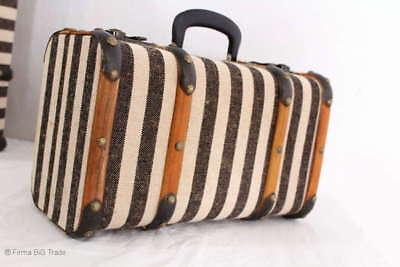 """Vintage Koffer Oldtimerkoffer Holzkoffer Holzleisten 3 Größen /""""L/"""" Antique Style"""