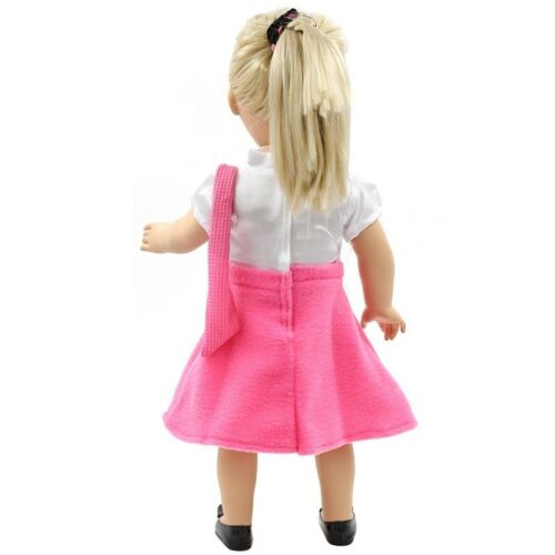 American Doll Clothes Pink Suit Dress Fit 43cm Baby Dolls 18 Inch Dolls Toy