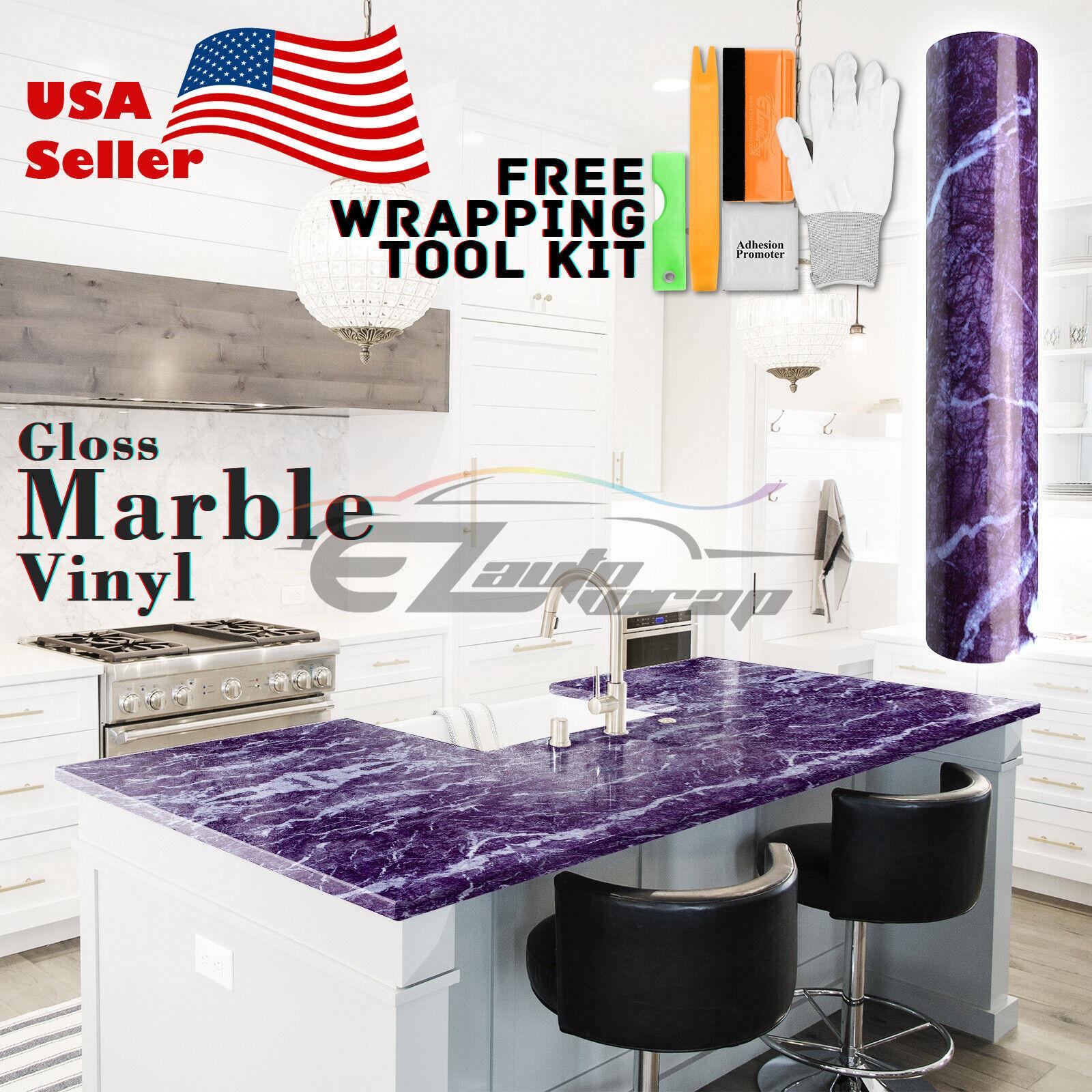 * Premium Marbre Granite Look Vinyle Wrap Autocollant contact Papier Maison Cuisine #01