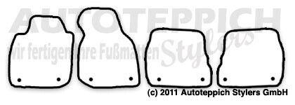 Avant Bj 1997-2004 Fußmatten meliert für Audi A6 S6 C5 4B inkl