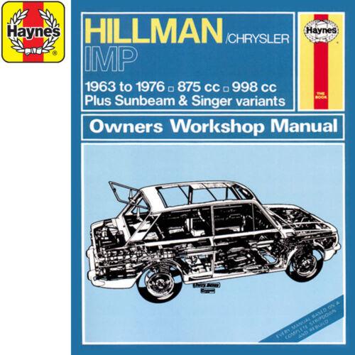 up to R Reg Hillman Imp 875cc 998cc Petrol 1963-76 0022 Haynes Manual Classi
