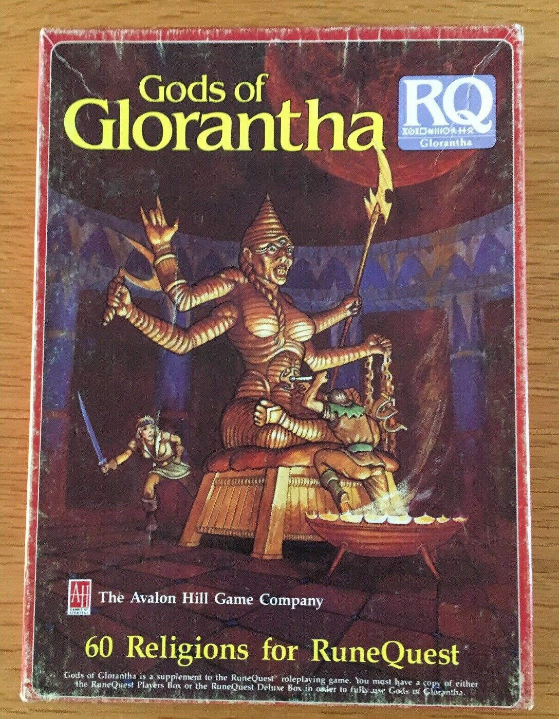 VINTAGE Runequest Gods OF glorantha 8577 Avalon Hill Box Set COMPLETA RARA
