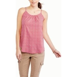 5ff245218bd7b Faded Glory Women s Woven Cami Tank Top Red White Combo Size XXL 20 ...