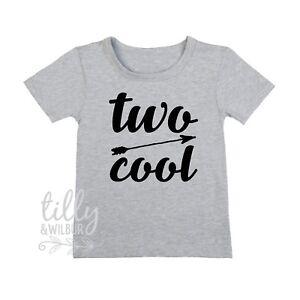 Image Is Loading Two Cool Boys T Shirt Birthday Boy TShirt