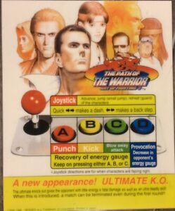 Art Of Fighting 3 Neo Geo Arcade Marquee Ebay
