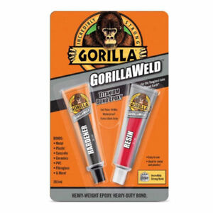 Super Glue For Metal >> Details About Gorilla Weld Titanium Bond Epoxy Gorillaweld Super Glue Adhesive Metal Pvc 29ml