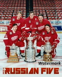 1997-Detroit-Red-Wings-Stanley-Cup-amp-Russian-Five-Color-Picture-8-X-10-Photo-Pic