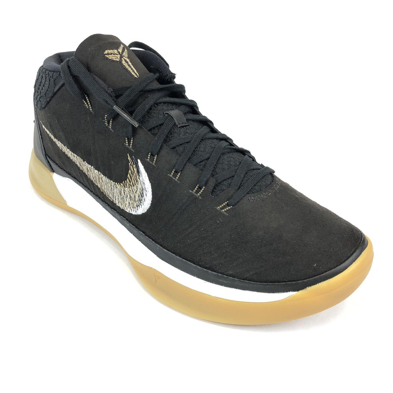 Nike Mens Kobe AD Black Metallic gold Anthracite Basketball Sneakers Gum 922482