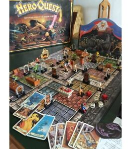 Hero-Quest-Parti-di-Ricambio-Accessori-Carte-Minis-Spare-Components-Cards-MB